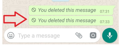 your delete this message